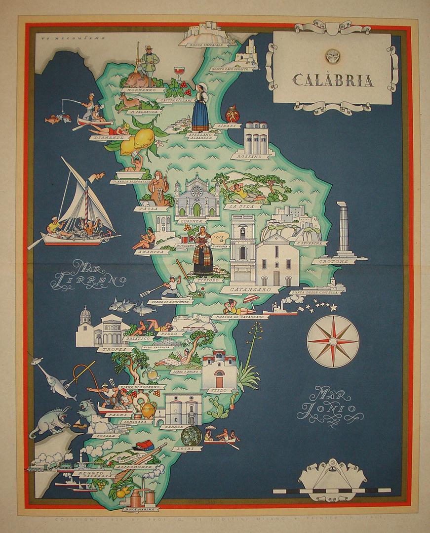 Cartina Geografica Calabria.Galleria Trincia Calabria Vsevolode Nicouline