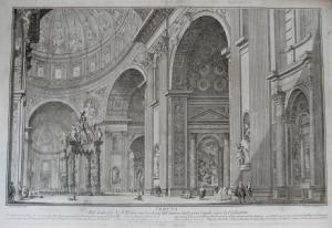 Galleria trincia vedute di roma artisti vari for Interno san pietro